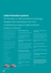 Cable Protection Systems An innovator in cable ... - George Lines