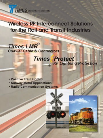 Rail Transit - Times Microwave Systems