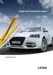 Single-core automotive cables - Leoni