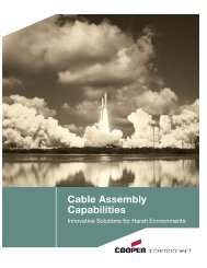Cable Capabilities Brochure 2:Layout 1 - Cooper Industries
