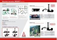 Mountain harvester MOUNTY 4000, 4100 - Herzog Forsttechnik