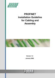 PROFINET Installation Guideline for Cabling and Assembly