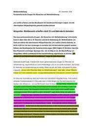 Medienmitteilung Parlamentariergruppe - Pro Audito Schweiz
