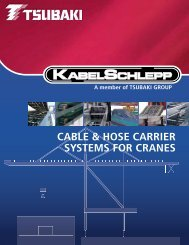 Cable & Hose Carriers for Cranes - Tsubaki