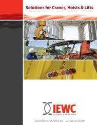 Solutions for Cranes, Hoists & Lifts - IEWC