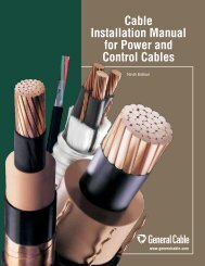 Cable Installation Manual for Power and Control ... - General Cable