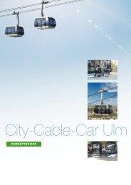 Flyer Cable Car Ulm A4 - Ulmer Seilbahn