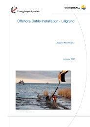 Offshore Cable Installation - Lillgrund - Vattenfall