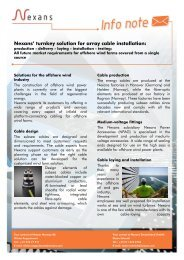 Nexans' turnkey solution for array cable installation: