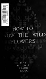 How to know the wild flowers - Index of