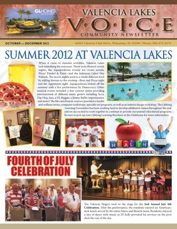valencia lakes program guide - GL Homes