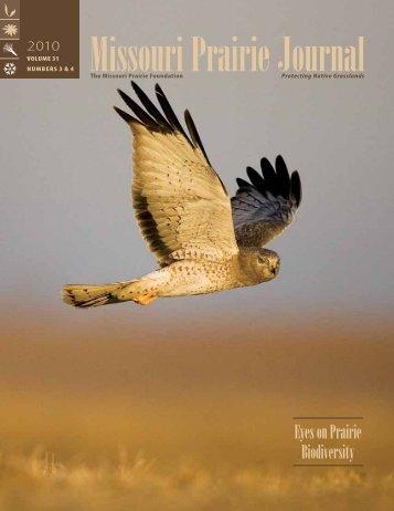 Fall & Winter 2010: Volume 31, Numbers 3 - Missouri Prairie ...