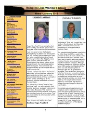 Women's Club Newsletter- January 2013 - Hampton Lake