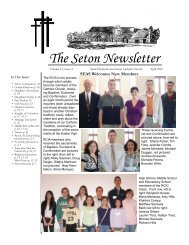 The Seton Newsletter - St. Elizabeth Ann Seton