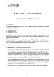 MONISTISCHE SPITALFINANZIERUNG - Privatkliniken Schweiz
