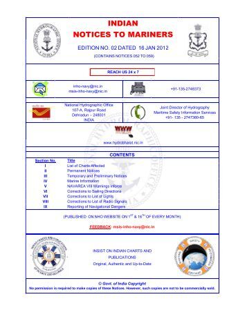 Edition 02 of 2012. - Indian Naval Hydrographic Department