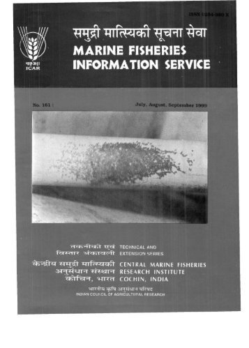 marine fisheries information service - Eprints@CMFRI - Central ...