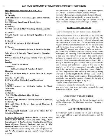 catholic community of wilmington and south tewksbury