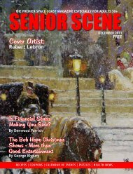 Cover Artist: - Senior Scene Magazine