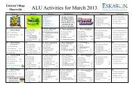 Activity Calendar - Eskaton