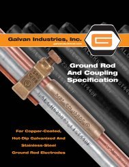 Ground Rod And Coupling Specification - Galvan Electrical