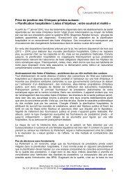 Prise de position CPS Planification hospitalière