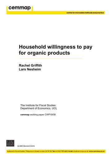 thesis willingness to pay for organic products