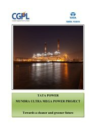TATA POWER MUNDRA ULTRA MEGA POWER PROJECT ...
