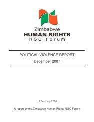 POLITICAL VIOLENCE REPORT December 2007 - Kubatana