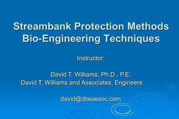 Streambank Protection Methods Bio-Engineering Techniques