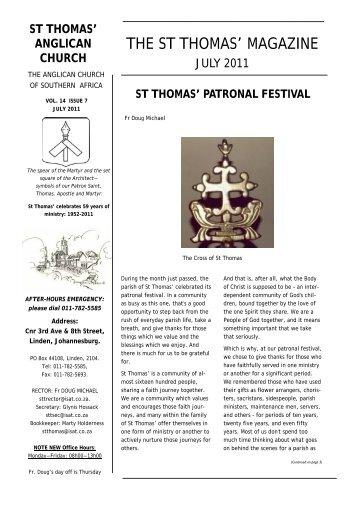 July 2011 - St. Thomas' Anglican Church, Linden, Johannesburg