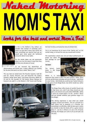 Best Mom's Taxi - Naked Motoring SA