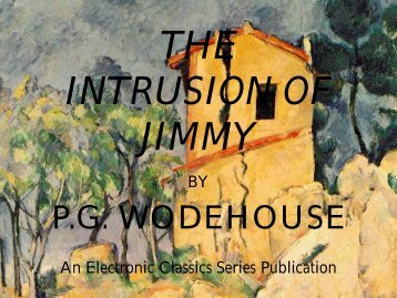 The Intrusion of Jimmy - Penn State University