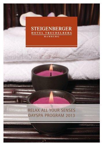 RELAX ALL YOUR SENSES DAYSPA PROGRAM 2013