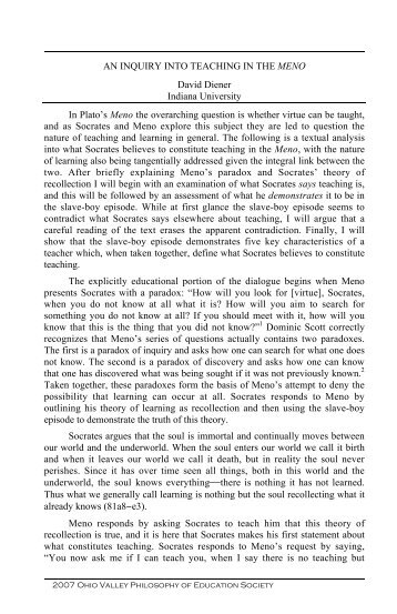 meno and the theory of recollection essay Sample essay topic, essay writing: the meno plato expresses his theory of recollection, due to meno's difficulty in his search for virtue and to motivate meno not.