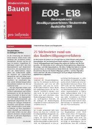 Nr. 23: Baubewilligungsverfahren - Pro Infirmis