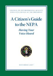 A Citizen's Guide to the NEPA - National Environmental Policy Act