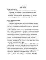 Experiment 7 distillation prelab assignment 1. 2. - Chemistry