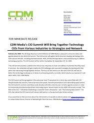 CDM Media's CIO Summit Will Bring Together Technology CIOs ...