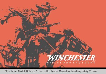 Winchester Model 94 Lever Action Rifle Owner's Manual — Top ...