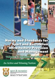 SASR Norms & Standards Vol 2 new.indd - Sport and Recreation ...