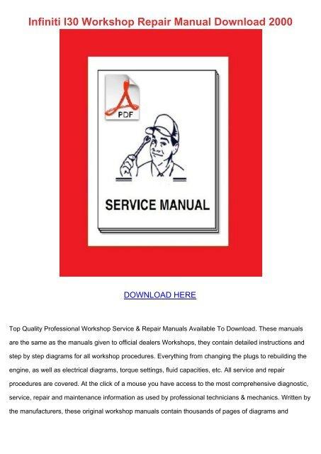 96 1996 Infiniti I30 owners manual