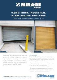 0.8mm Thick Industrial Steel Roller Shutters - S75 - Mirage Doors