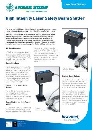 High Integrity Laser Safety Beam Shutter - Laser 2000 GmbH