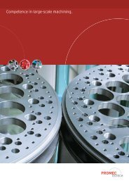 Competence in large-scale machining. - PROMEC-ESTECH AG