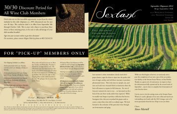 Read the Full Newsletter - Sextant Wines