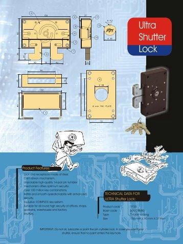 Ultra Shutter Locks - Godrej Locking
