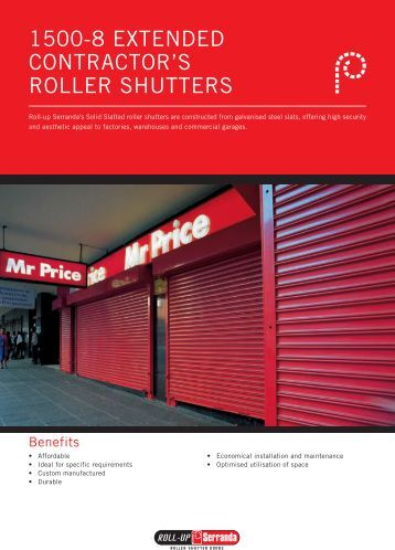 Roll-Up Serranda - 1500-8 Extended Contractor's Roller Shutters