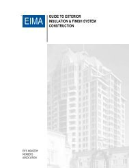 Guide to Exterior Insulation and Finish Systems Construction - EIMA