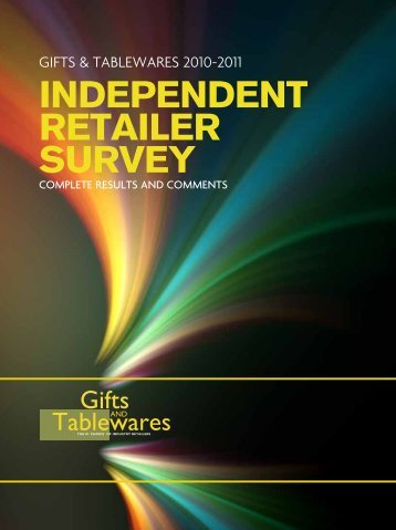 INDEPENDENT RETAILER SURVEY - Gifts and Tablewares